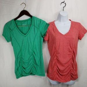 2 Zella Workout Yoga t-Shirts womens sz M